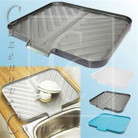 kitchen sink dish drainers worktop drainer tray space saving draining board sink