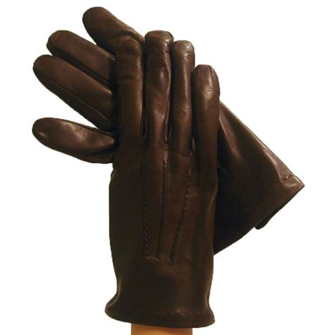 brown leather gloves mens brown s leather gloves lined in classe