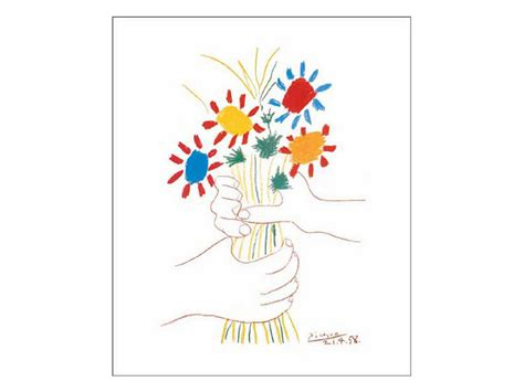 picasso paintings holding flowers create with mrs p kinder picasso quot with bouquet quot
