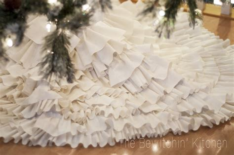 tree with skirt diy ruffled tree skirt handmade with the bewitchin