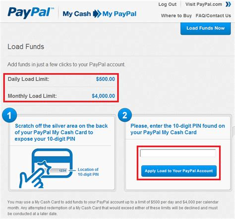 how to make a paypal card load paypal my cards to your paypal account