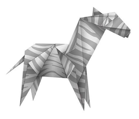 transparent origami paper free illustration origami zebra black and white free