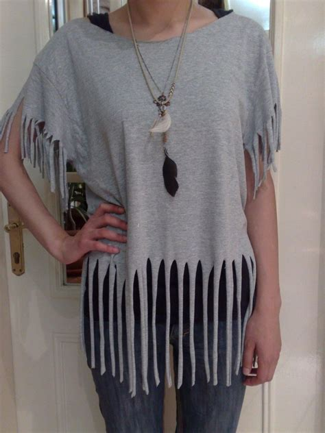 how to make a fringed shirt with t shirt recon fringes 183 how to make a fringed top 183 how