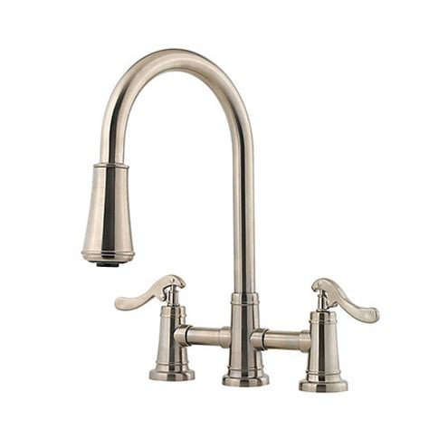 price pfister ashfield kitchen faucet pfister gt531 ypk ashfield pull kitchen faucet
