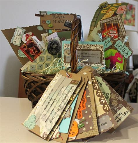 craft projects for couples date basket for couples includes some gift cards but