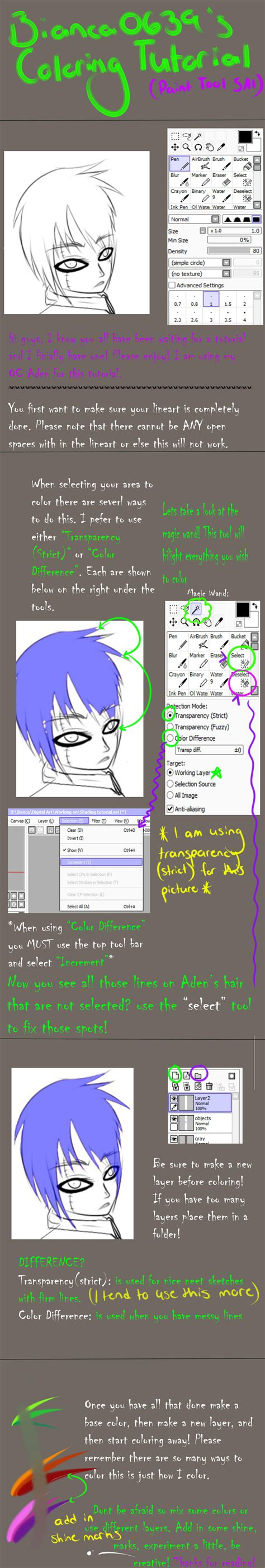 paint tool sai tutorial selection tutorial how to color using paint tool sai by bianca0639