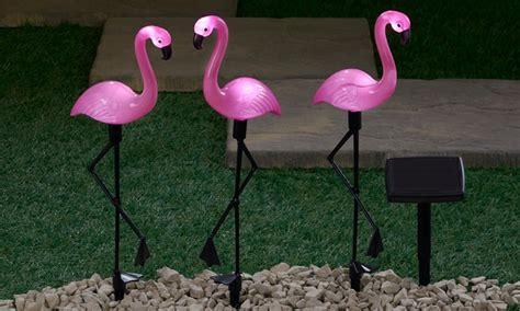light up pink flamingo solar light up flamingos groupon
