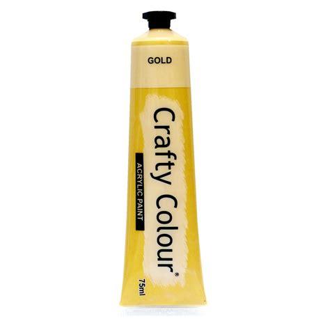 acrylic paint bunnings crafty colour 75ml gold acrylic paint bunnings warehouse