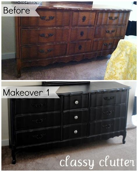 chalk paint black diy chalk paint recipe and a dresser makeover clutter