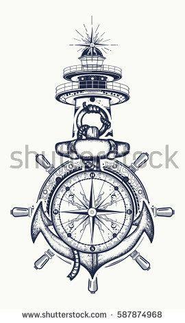 25 beautiful anchor compass tattoo ideas on pinterest