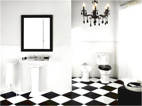 Black And White Bathroom Tile Ideas by 15 Gorgeous Black And White Tile Bathroom Design Ideas
