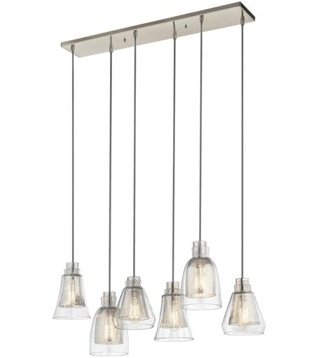 multi pendant ceiling light kichler 43628ni evie modern brushed nickel multi ceiling