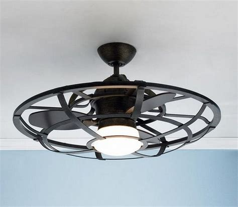 ceiling fan with cage light ceiling awesome ceiling fan with cage light enclosed