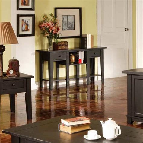country style sofa table liberty country style sofa table in antique black dcg stores