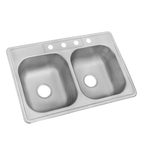 glacier bay stainless steel kitchen sink glacier bay drop in stainless steel 33 in 4