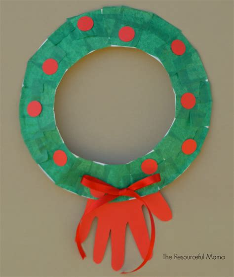 paper plate wreath crafts paper plate wreath kid craft the resourceful
