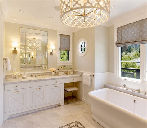 bathroom chandelier lighting ideas quatrefoil chandelier transitional bathroom benjamin