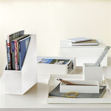 white lacquer desk accessories lacquer office modern desk accessories by west elm
