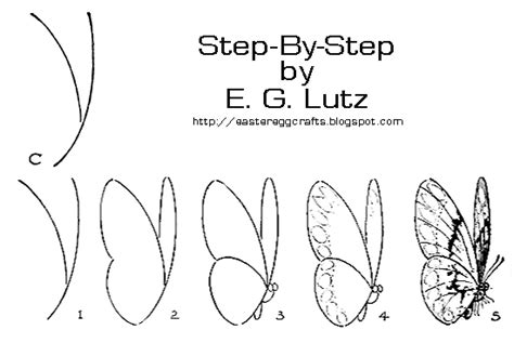 butterfly step by step drawing butterflies by progressive steps easter egg crafts