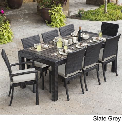 overstock patio furniture sets rst brands deco 9 dining set patio furniture