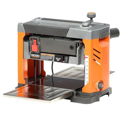 planer woodworking ridgid 13 in thickness planer with 3 blade cutterhead