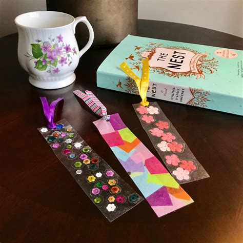 contact paper crafts for toddlers s day contact paper diy bookmarks the inspired home