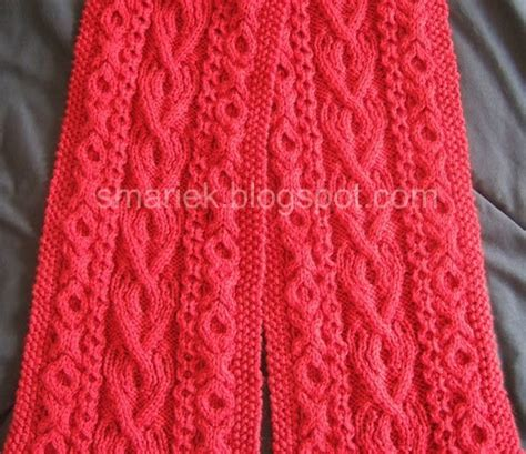 st knit st albans cable scarf smariek knits
