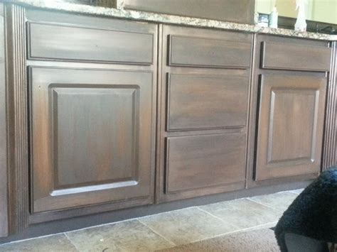 chalk paint that looks like stain hometalk white cabinets painted to look like wood