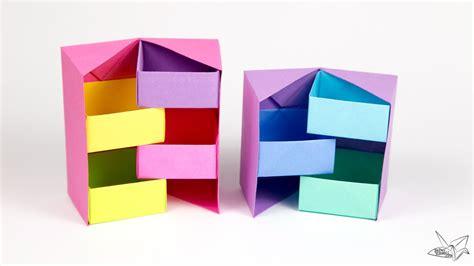origami tool box origami secret stepper box tutorial paper kawaii