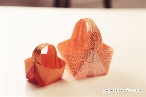 origami easter bunny basket origami easter basket tutorial paper kawaii