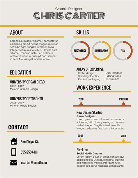 resume infographic generator infographic resume template venngage