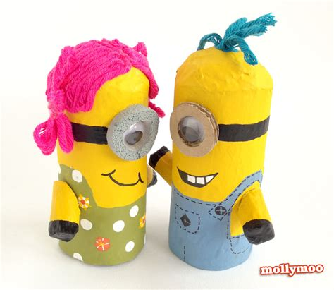 minion crafts for mollymoocrafts toilet roll crafts for despicable me