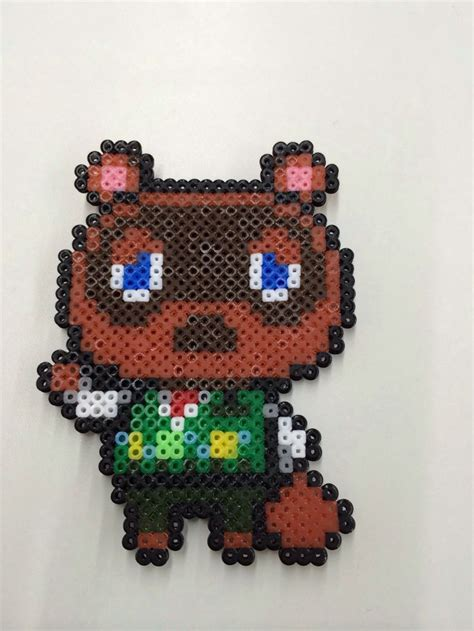 perler animals animal crossing tom nook 동숲 너굴 perler