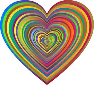 of hearts clipart psychedelic hearts tunnel 6