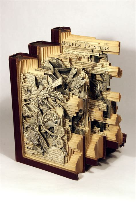 pictures into books interesting book carving by brian dettmer 14 pics