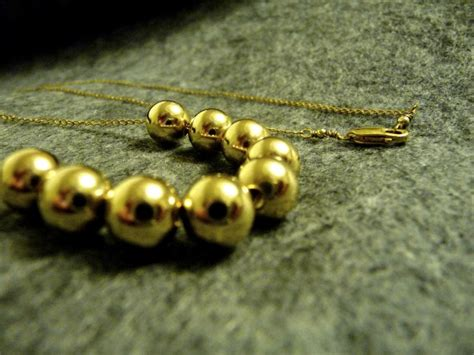 add a bead necklace gold add a bead necklace