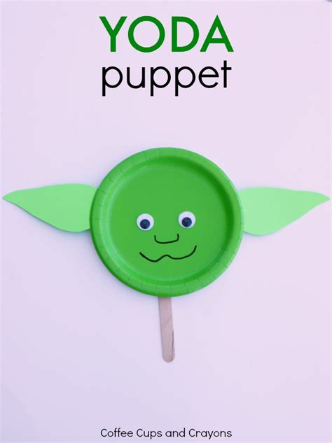 easy wars crafts for yoda puppet wars craft coffee cups and crayons