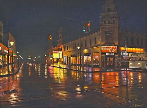paint nite detroit rainy 117th and detroit painting by paul krapf