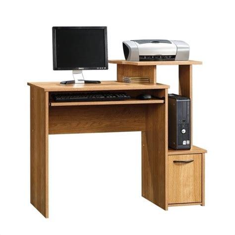 oak finish computer desk sauder beginnings highland oak finish computer desk ebay