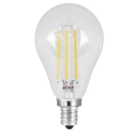 led light bulbs candelabra base 60w feit electric 60w equivalent daylight a15 dimmable clear