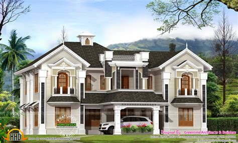 colonial home plans colonial style house in kerala kerala home design and