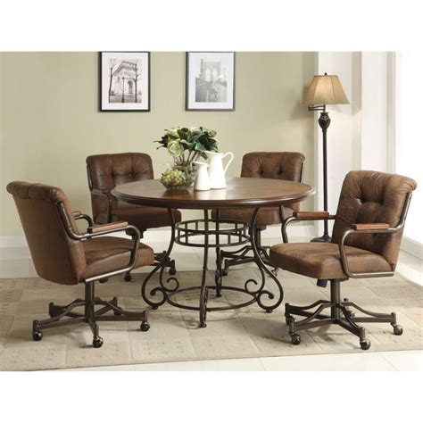 dining room chairs with casters 1000 ideas about leather dining chairs on
