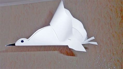 white paper crafts make a white paper pigeon diy crafts guidecentral