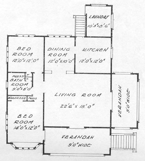 floor plan description description floor plan for porch and gable bungalow with