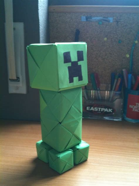 how to make a origami creeper origami and stuff paper creeper minecraft