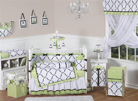 green and white crib bedding princess black white and green crib bedding collection