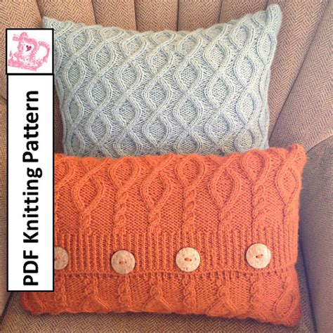 cable cushion cover knitting pattern cable knit pillow cover pattern pdf knitting pattern knitted