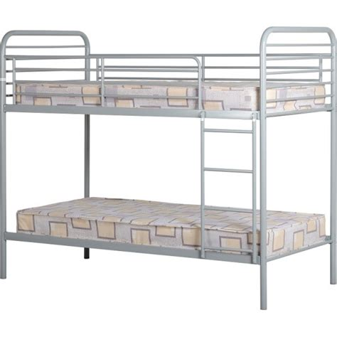 metal frame bunk bed cheap seconique bradley silver metal bunk bed frame for