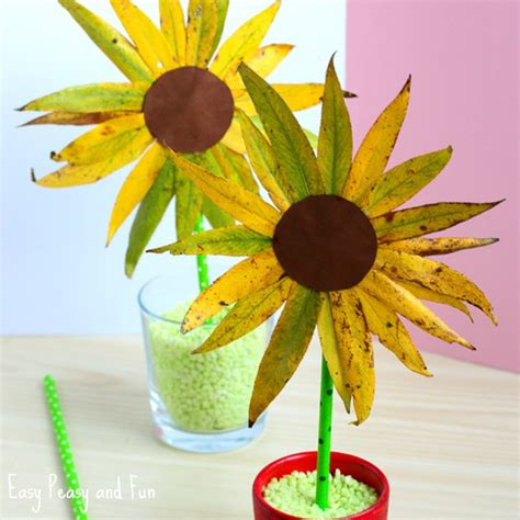 sunflower crafts for leaf sunflower craft fall crafts for easy peasy