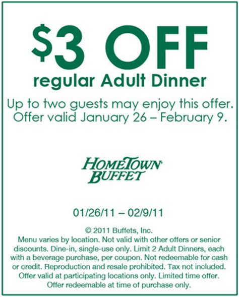 hometown buffet dinner coupons 25 save hometown buffet coupons codes december 2017